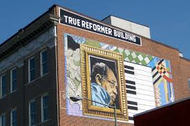 Duke Ellington picture on building