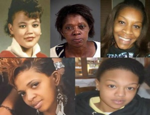 Top row: Raynette Turner; Joyce Curnell; Sandra Bland. Bottom row: Ralkina Jones; Kindra Chapman.