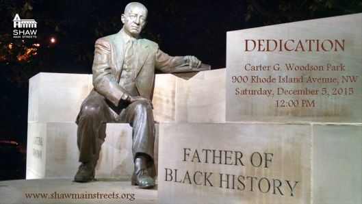 Carter G_ Woodson Dedication flyer 120515